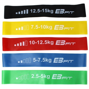 Zestaw gum do ćwiczeń Crossfit Mini Band 5w1 EB FIT 1028842