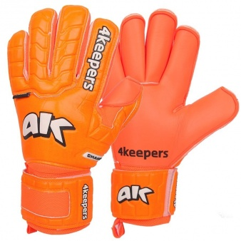 Rękawice 4keepers Champ Colour Orange IV RF Junior + płyn czyszczący